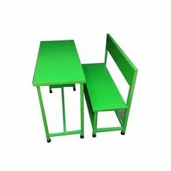 Green Two Seater School Desk