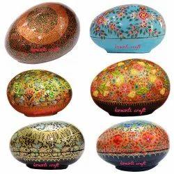 Hand Painted Multi- Color Flowers - Paper Mache Egg Box