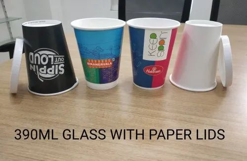 390 ML Paper Glass