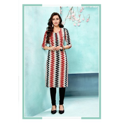 Ladies Fancy Printed Cotton Kurti