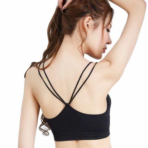df54e1e6dd0 Black Color 92% Nylon   8% Elastane Bralette Bra