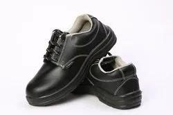 Men Black PVC Sole Safety Shoe