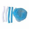 Blue Cotton Bouffant Cap, Packaging Type: Packet, Box