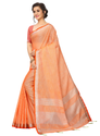 Sangini Orange Pure Linen Cotton Saree