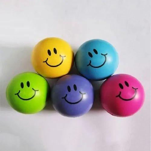 Promotional Smiley Ball With Logo (anti Stress Pu Foam Ball)