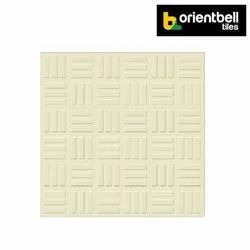Orientbell Tiles Matte Orientbell Chex Ivory (17601) Paver Tiles, Size: 300X300 mm