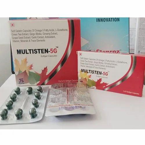 Multisten-5G Softgel Capsules, Packaging Type: Blister