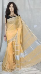 Premium quality cotton linen handloom saree