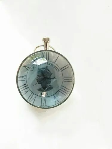 a07ccd1a6 Chrome Finish Brass Paperweight Clock, For Paperweight Table Clock, Shape:  Round