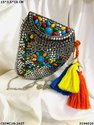Colorful Designer Metal Mosaic Clutch
