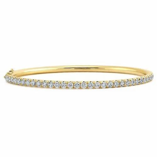 Stackable Diamond Bangle, Packaging Type: Box