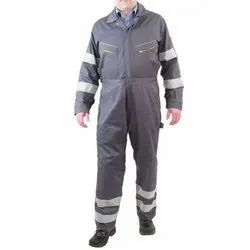 Polyester Safety Industrial Uniform, Size: Large, For Safety Purpose