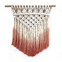 Natural Thread Color 14 X 31 Inch Macrame Wall Hanging