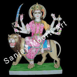 Marble Sherawali Statue