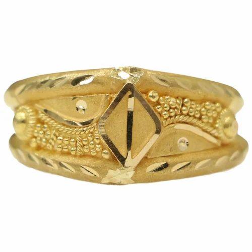 Golden Finger Ring Golden Finger Rings Jineshwar Jewels
