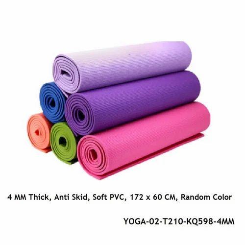 YOGA MATE-Inditradition Yoga Mat / Meditation Mat, 4 MM Thick, Anti Skid, Soft PVC-YOGA-02