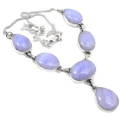 925 Blue Lace High Furnished Necklaces