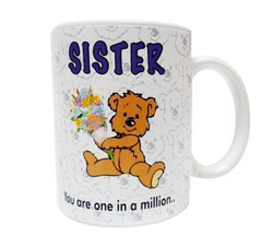 D&Y Sister You Are in A Milions Ceramic Mug