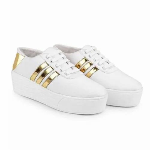 Party Wear Girl White Designer Shoes