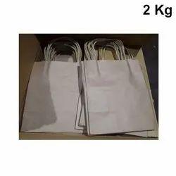 Plain Brown Kraft Paper Bag, For Shopping, Capacity: 2kg