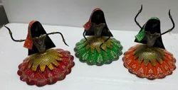 iHandikart Multicolor Metal Lady Showpiece IHK13111, Packaging Type: Box