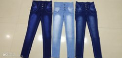 Stretchable Skinny LADIES Blue Denim Jeans, Packaging Type: Standard, Waist Size: 32