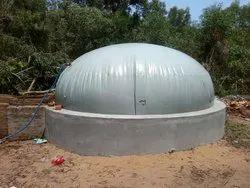 Prefabricated Flexible bio gas plant, For Industrial, 30 KGS