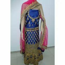 Ladies Semi-Stitched Embroidery Party Wear Designer Lehenga