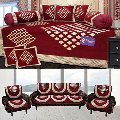 Amazing Geometric Velvet Sofa Cover At Rs 1200 Pack Sofa Covers Pabps2019 Chair Design Images Pabps2019Com
