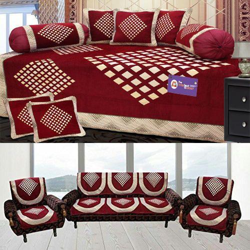 Geometric Velvet Sofa Cover