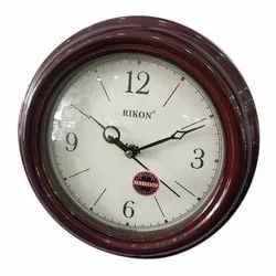Rikon Wooden Wall Clock, Shape: Round