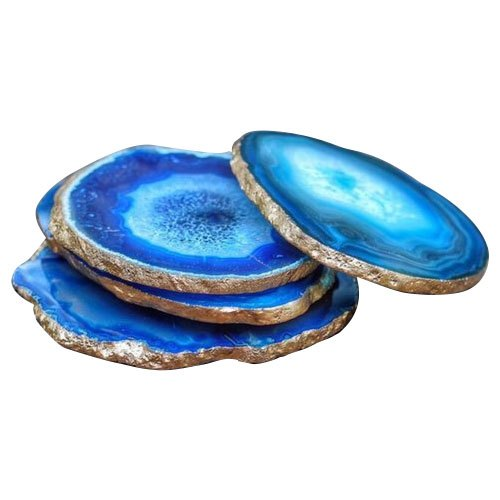 Blue Agate Coaster Rs 300 Piece Hamna Agate Id 20635335433