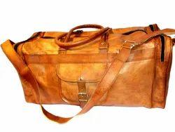 Leather Duffel Travel Bag