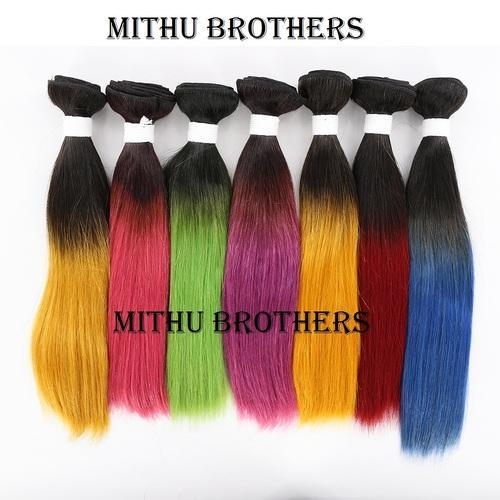 Synthetic Hair Weave - High Heat Sangvita Wefts Hair Natural Black ...