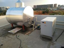 Ms And Ss Commercial Solar Water Heating System With Heat Pump, 240 V, 10kw,19kw