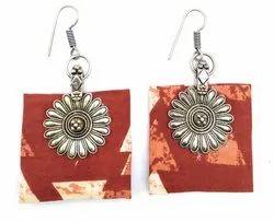 FE003 Handmade Fabric Earrings