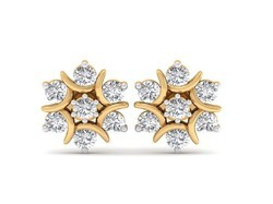 Cluster Diamond Earring