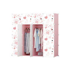 Plastic Rack Clothes Bookcase, Storage Cabinet, Wardrobe