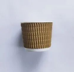 Brown 120 Ml Ripple Cup For Parties