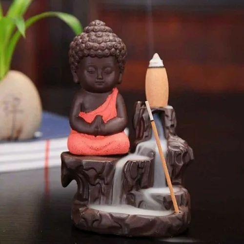 Polyresin Smoke Buddha Fountain Statue
