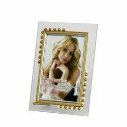 Half Moti Glass Photo Frame