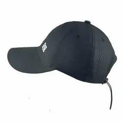 6板聚酯黑色设计师帽