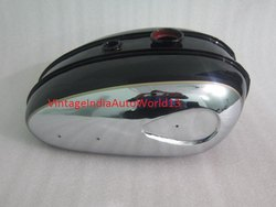 New Bsa C15 Chromed And Black Painted Petrol Tank (Reproduction