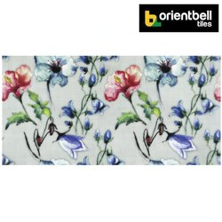 Orientbell Tiles Orientbell SDH BLUE W MOSAIC HL Decorative Wall Tiles, Size: 300X600 mm