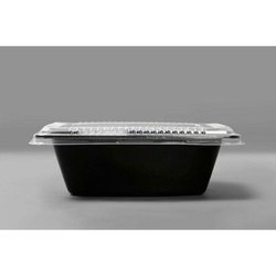 750ml Black Pasta Tray With Lid