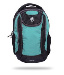 Black and Green Free Size Backpack