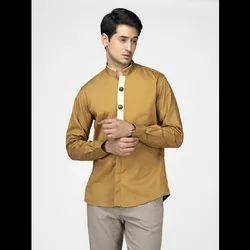 Green Hill Men's Designer Mustard Shirt