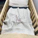 Handmade 100% Cotton Unisex Baby Cot Size Kantha Quilt