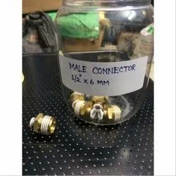 Brass Male Connector, Packaging Type: Box