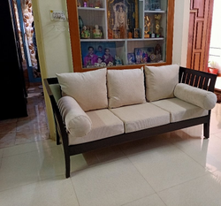Modern Rectangular Wooden Sofa Set, Size/Dimension: 6feet